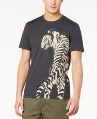 American Rag Men's Graphic Print T Shirt Created For Macy's Dark Lead