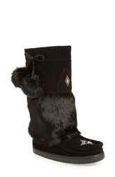 Manitobah Mukluks Women's Snowy Owl Waterproof Genuine Fur Boot