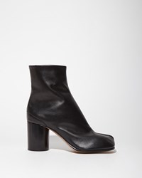 Maison Martin Margiela Light Brushed Effect Ankle Boots Black