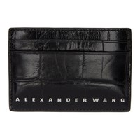 Alexander Wang Black Croc Dime Card Holder