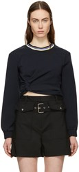 3.1 Phillip Lim Navy Twisted Sweatshirt
