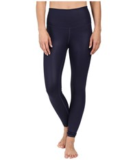 Alo Yoga High Waist Airbrushed Leggings Rich Navy Glossy Women's Casual Pants