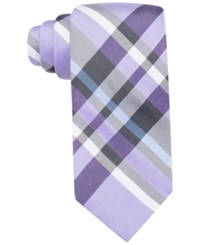 Alfani Spectrum Men's Sunset Large Plaid Slim Tie Only At Macy's Purple