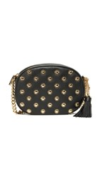 Michael Michael Kors Medium Ginny Messenger Bag With Starbust Hardware Black