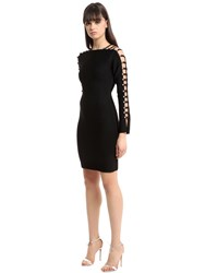 David Koma Knit Dress W Cutout Sleeves