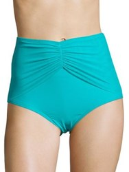Coco Reef Diva Mesh High Waist Bikini Bottom Blue