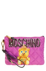 Moschino Women's Quilted Teddy Wristlet