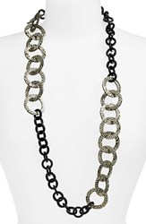 Women's L. Erickson 'Madison' Link Station Necklace
