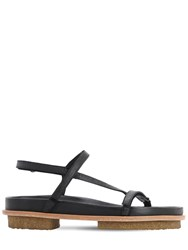 Mari Giudicelli 15Mm Leather Flat Sandals Black