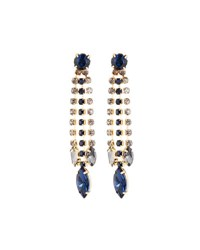 Emily And Ashley Linear Midnight Blue Crystal Drop Earrings