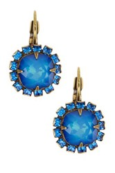 Liz Palacios Crystal Surround Cushion Earrings No Color