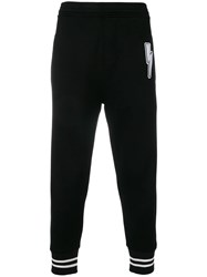 Neil Barrett Relaxed Fit Track Trousers Black