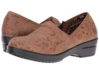 Roper Claire Tan Faux Leather Embossed Women's Clog Shoes