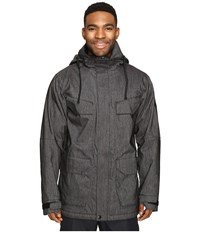 686 Authentic Surplus Insulated Jacket Black Denim Men's Coat