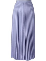 Forte Forte Long Pleated Skirt Pink And Purple