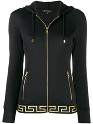 Versace Greek Key Hooded Jacket Black
