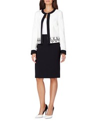 Tahari By Arthur S. Levine Two Piece Top And Skirt Cloud White