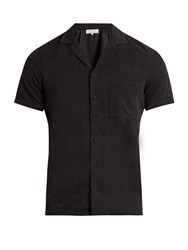 Orlebar Brown Travis Terry Towelling Cotton Shirt Grey