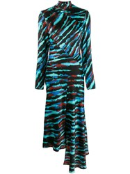 House Of Holland Tie Dye Panelled Dress Blue