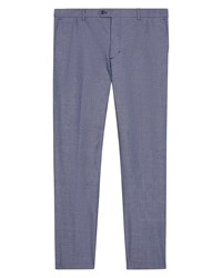 Jaeger Men's Cotton Chambray Slim Trousers Chambray