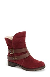Women's Naturalizer 'Talley' Engineer Boot Cordovan Suede Brown Leather