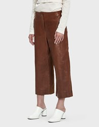 Nehera Leop Wide Leg Leather Pant Rust