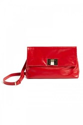 Wtr Amanda Red Leather Clutch Bag
