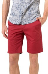7 Diamonds Men's Slim Fit Brushed Twill Shorts Coral Red