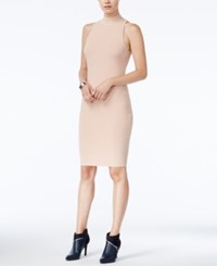 Bar Iii Mock Neck Ribbed Bodycon Dress Only At Macy's Ballet Pink