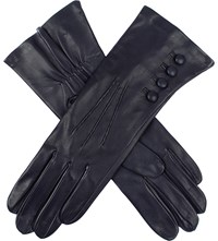Dents Silk Lined Leather Gloves Navy
