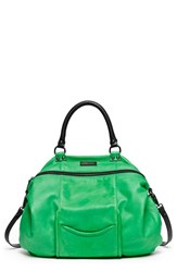 Hayden Harnett 'All Day' Leather Satchel Green