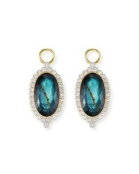 Jude Frances 18K Provence Oval Doublet Earring Charms
