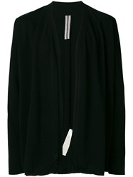 Rick Owens Open Cardigan Black