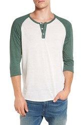 Alternative Apparel Men's Trim Fit Heathered Raglan Henley