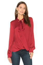 Bcbgeneration Surplice Blouse Red