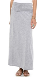 Splendid Heather Maxi Tube Skirt Dress Heather Grey