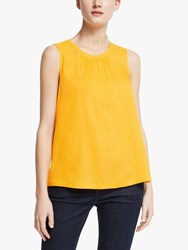 John Lewis Collection Weekend By Sleeveless Modal Vest Soft Yellow