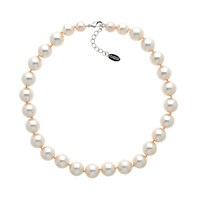 Finesse Faux Pearl Necklace Pink