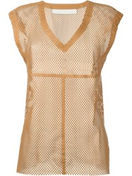 Drome Perforated Tank Brown