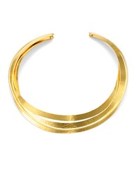 Herve Van Der Straeten Sculpted Collar Necklace Gold