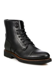 Coach Bleecker Cap Toe Boots Black