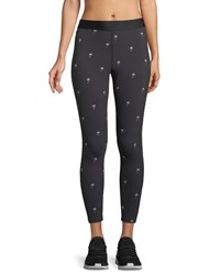Alala Base Embroidered Performance Tights Black Pattern