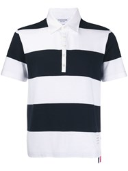 Thom Browne 4 Bar Rubgy Striped Polo 60
