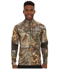 Terramar 3.0 Tracker Quarter Zip Realtree Xtra Dark Loden Men's Long Sleeve Pullover Brown