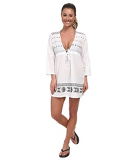 Carve Designs Lagoon Tunic White W Anchor Women's Clothing