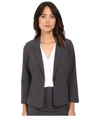 Kensie Heather Stretch Crepe Blazer Ks2k2s54 Heather Dark Grey Women's Jacket Gray