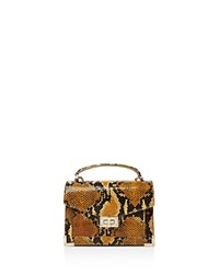 The Kooples Emily Snake Embossed Leather Mini Crossbody Ocre