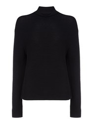 Samsoe And Samsoe Mara Ribbed T Neck Jumper Black