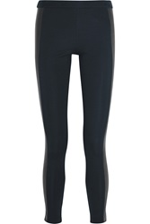 Michael Michael Kors Faux Leather Paneled Stretch Cady Leggings