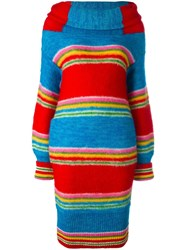 Kansai Yamamoto Vintage Cowl Neck Knit Dress Multicolour